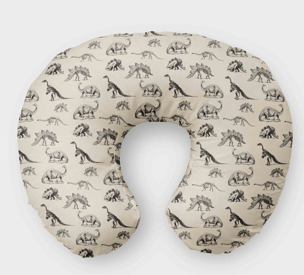 Dino Boppy Cover - Monochrome Black & Cream Dinosaur - Dream Evergreen @DreamEvergreen