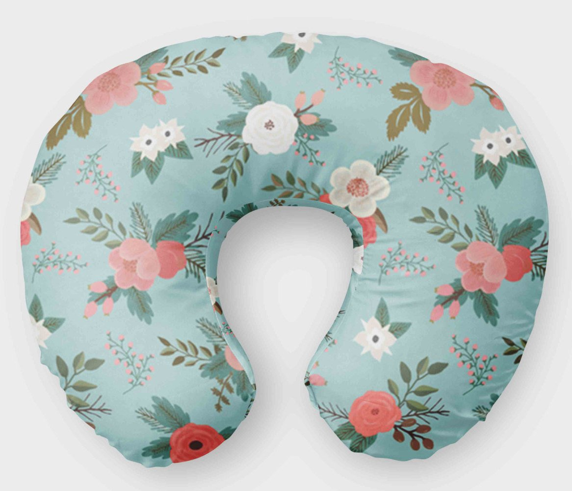 Nursing Pillow Cover - Flowers Boho Floral Boppy Cover - Orange Blossom Special  @orangeblossomspecial805