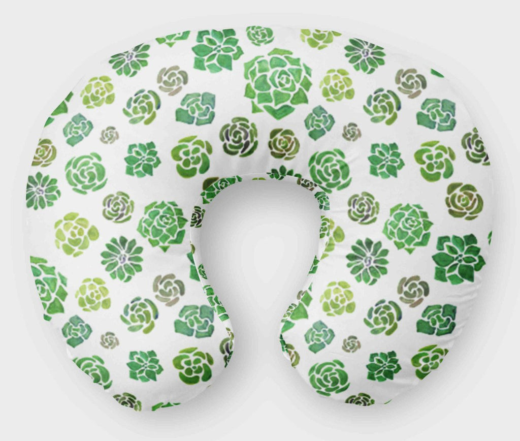 Succulent  Cactus Boppy Pillow Cover - Nursing Pillow - Dream Evergreen @DreamEvergreen