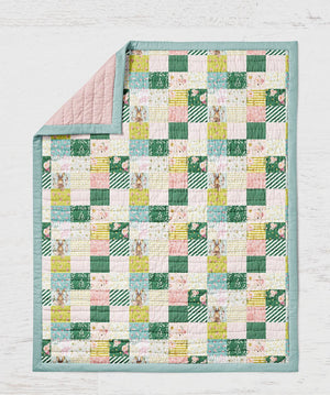 Bunny Quilt - Woodland Throw - Dream Evergreen