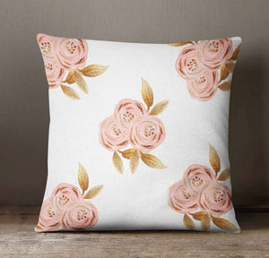 Gold Glitz Floral Throw Pillow Cover - Orange Blossom Special  @orangeblossomspecial805