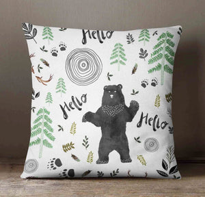 Hello Bear Pillow Cover - Dream Evergreen @DreamEvergreen