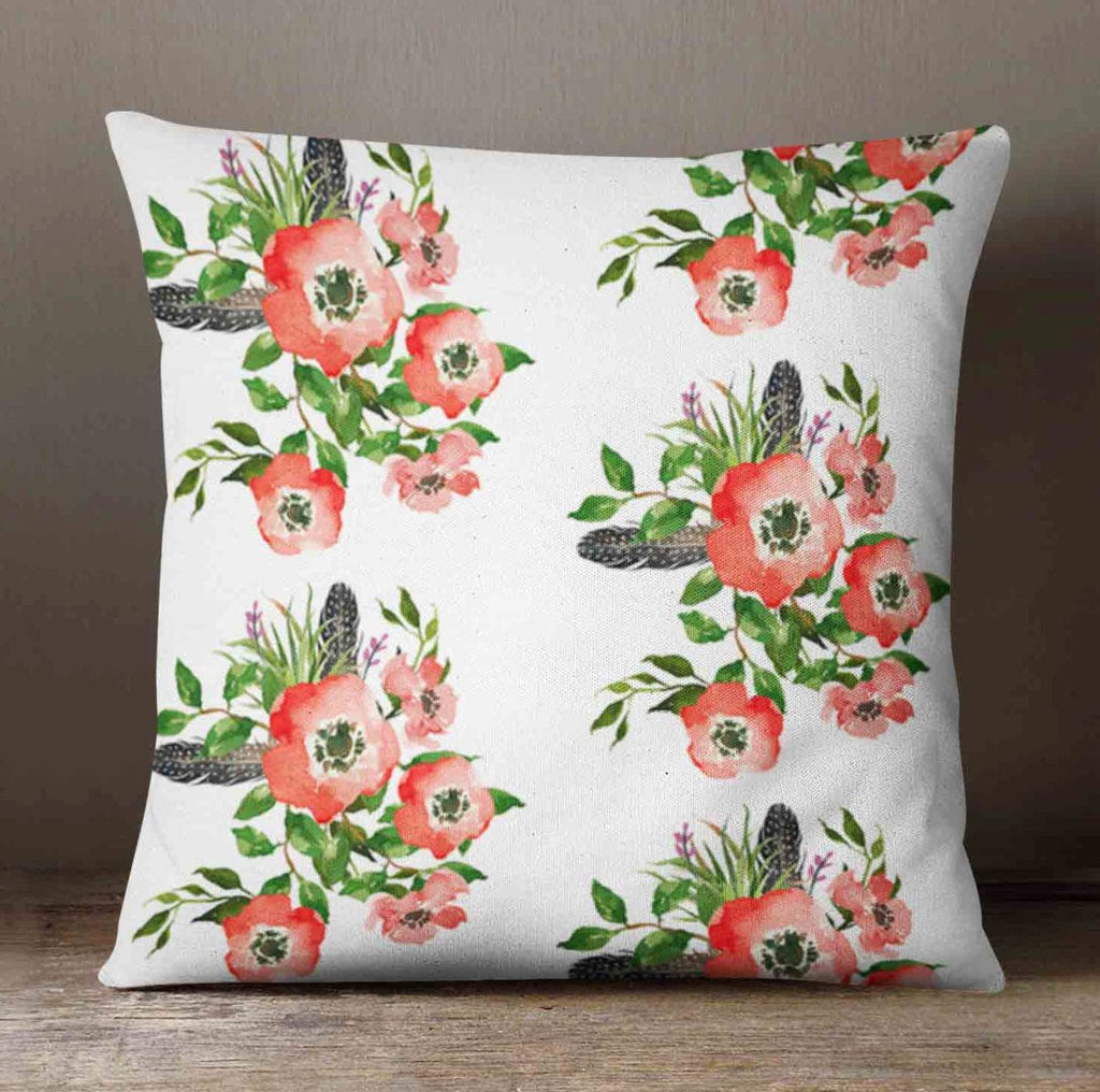 Flower Nursery Pillow - Floral Pillow Cover - Pillow Cover - Decorative Pillow - Feathers Pillow Case - Flower Decor - Floral Pillow Boho - Orange Blossom Special  @orangeblossomspecial805
