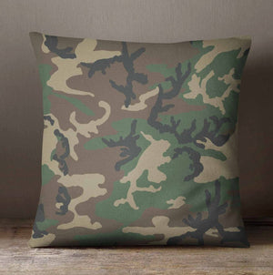 Camo Woodland Hunter Throw  Pillow - Dream Evergreen @DreamEvergreen