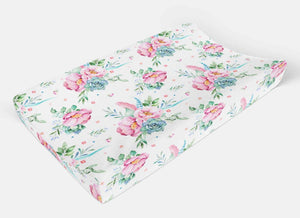 Floral changing pad cover -Flowers Change Pad Cover - Orange Blossom Special  @orangeblossomspecial805