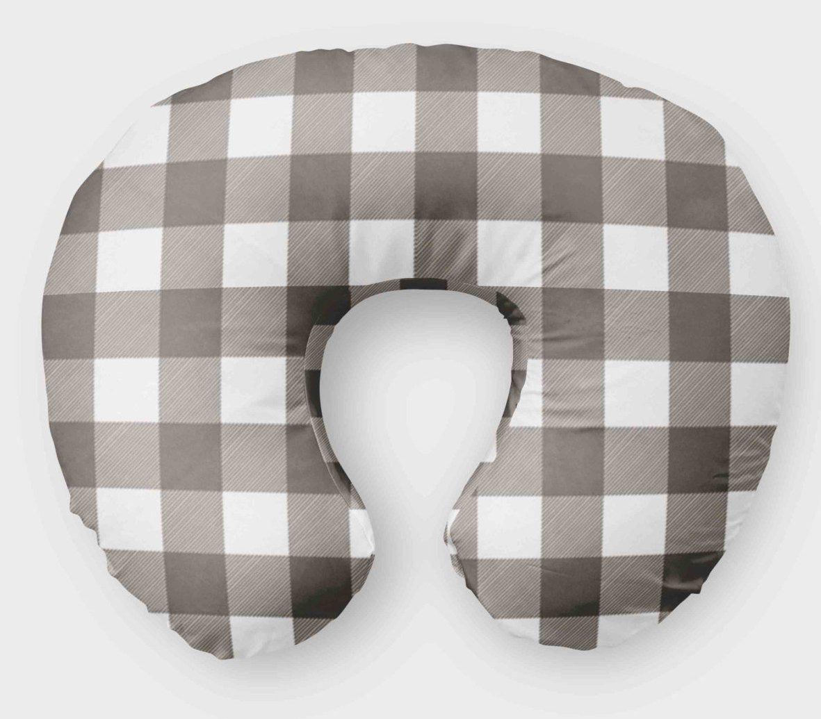 Picture of: Boppy Cover For Boys Grey Plaid Nursing Pillow Cover Dream Evergreen