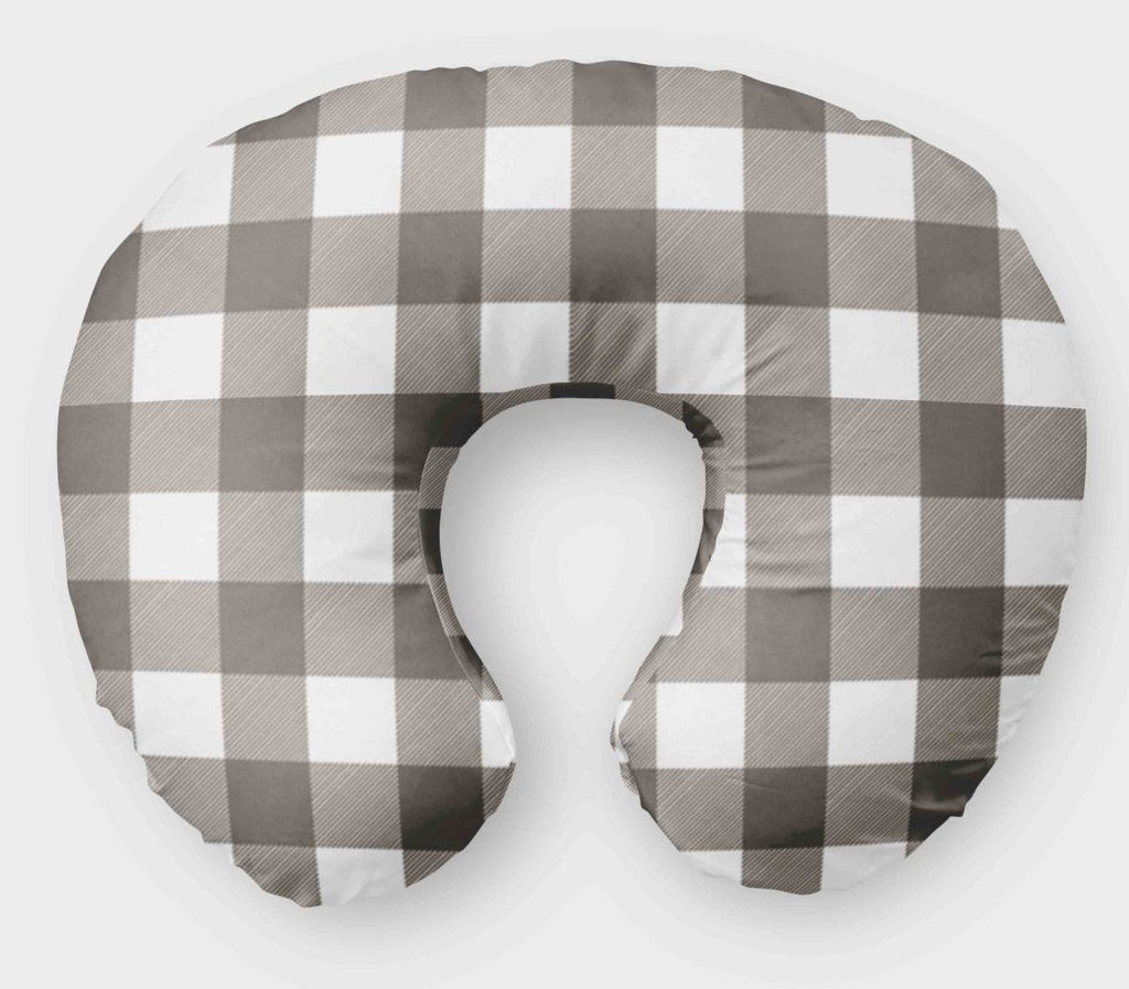 Boppy Cover for Boys - Grey Plaid - Nursing Pillow Cover - Orange Blossom Special  @orangeblossomspecial805