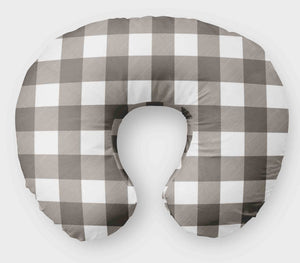 Boppy Cover for Boys - Grey Plaid - Nursing Pillow Cover - Dream Evergreen @DreamEvergreen