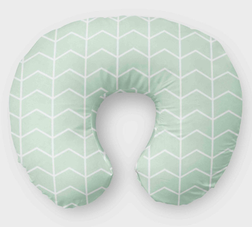 Mint Boppy Cover - Nursing Pillow Cover - Dream Evergreen
