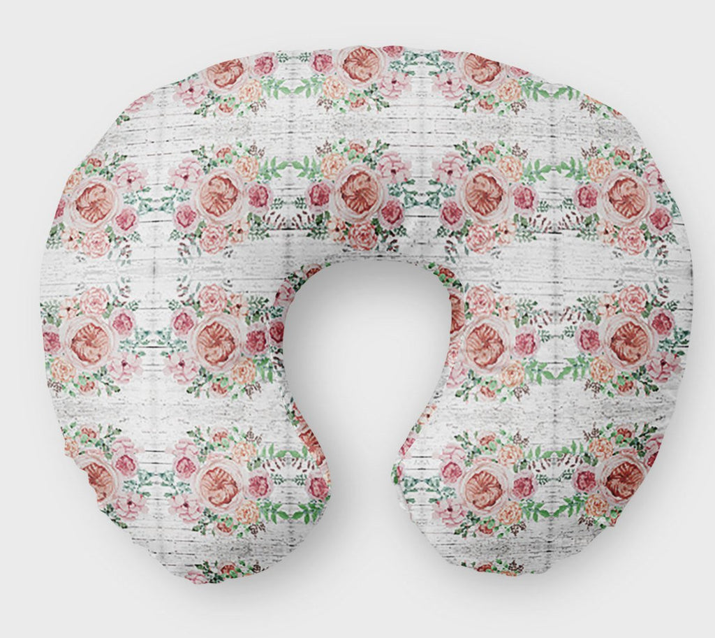 Vintage Rose Nursing Pillow Cover Winter Floral Boppy - Orange Blossom Special  @orangeblossomspecial805
