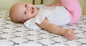 Deer Fitted Crib Sheet - Fawn Crib Bedding - Dream Evergreen @DreamEvergreen