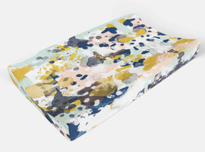 Tie Dye Changing Pad Cover - Blue Pink Boho Changing Pad - Dream Evergreen @DreamEvergreen
