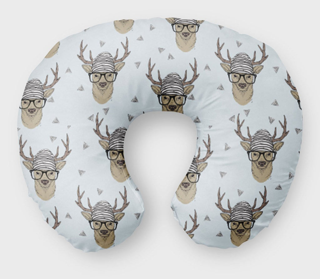 Deer Nursing Pillow Cover - Buck  Antlers Boppy Cover - Dream Evergreen @DreamEvergreen