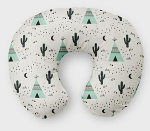 Tepee Nursing Pillow Cover - Boho Desert Cactus Boppy  Pillow Cover - Dream Evergreen @DreamEvergreen