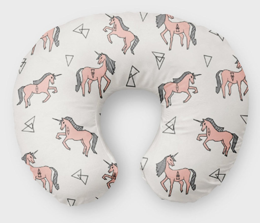 Unicorn Boppy Cover -  Pink - Dream Evergreen