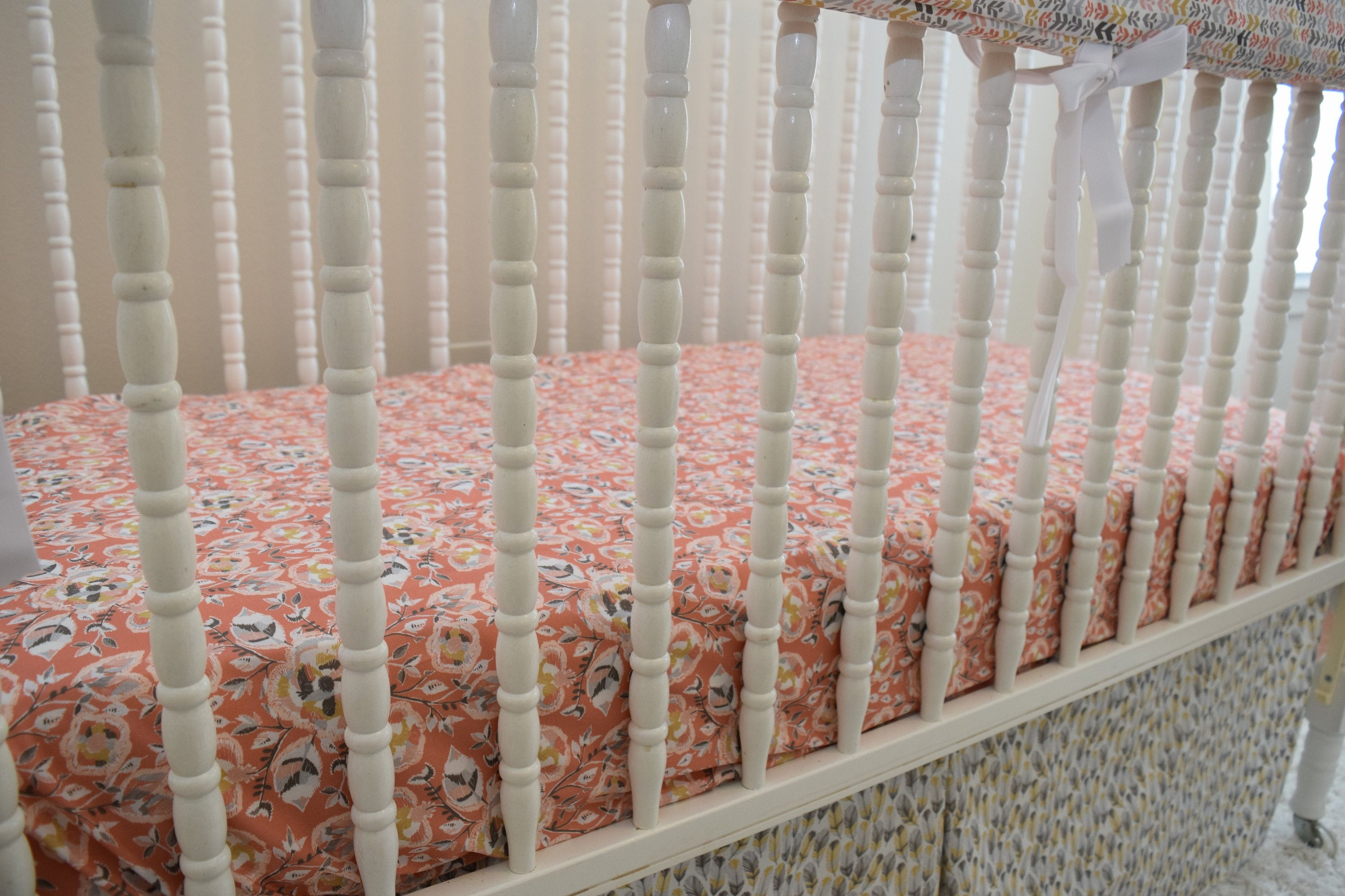 Pink and Gold Nursery Bedding - Dream Evergreen @DreamEvergreen