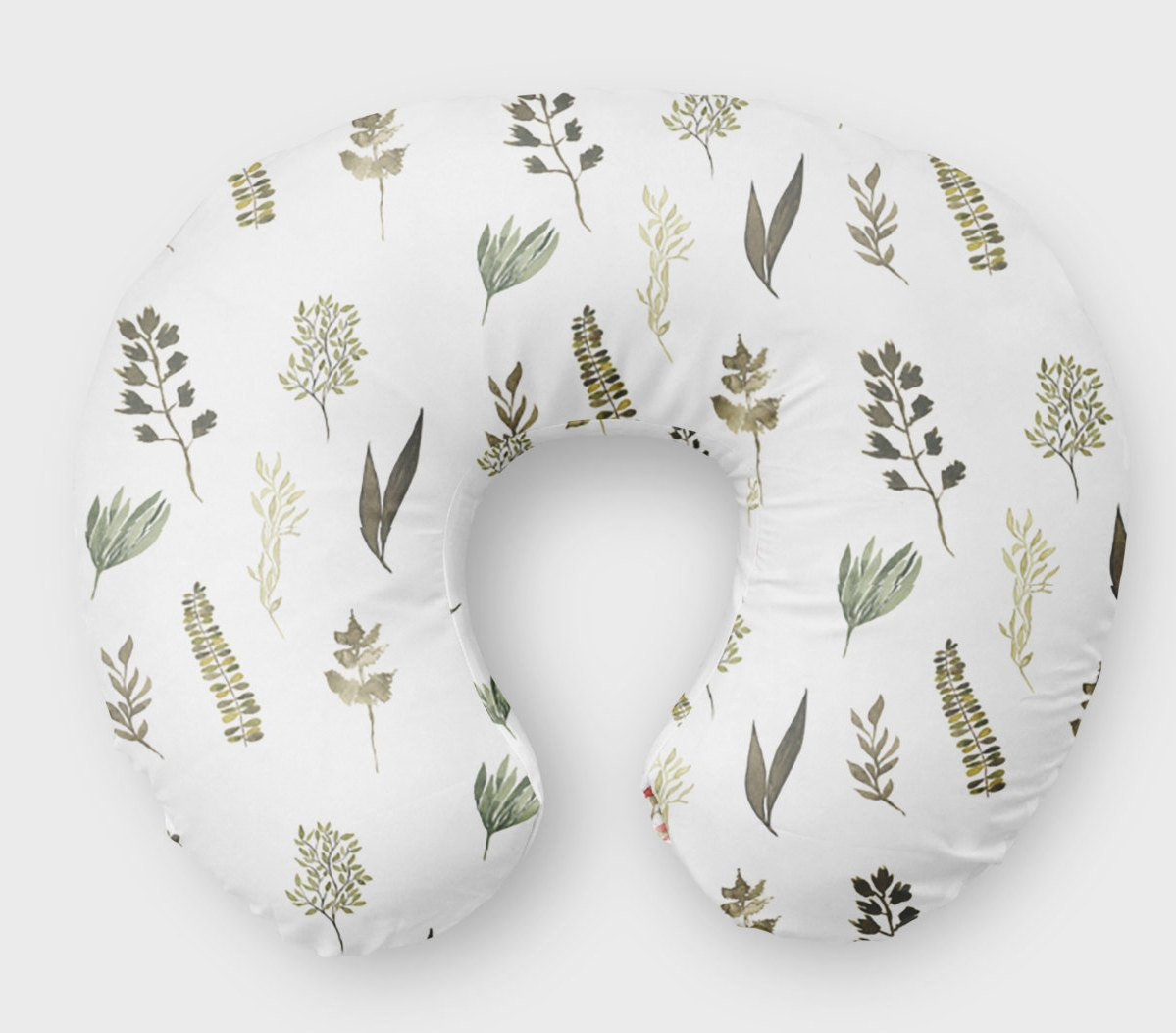 Neutral Leaves Boppy Pillow Cover -  Nursing Pillow - Dream Evergreen @DreamEvergreen
