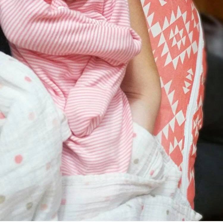 Pink Boppy Cover - Cotton Front - Dream Evergreen @DreamEvergreen