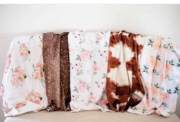 Cow Swaddle Blanket - Farm Baby Blanket - Orange Blossom Special  @orangeblossomspecial805