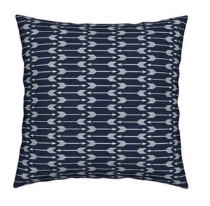 Navy Arrow Throw  Pillow Cover - Dream Evergreen @DreamEvergreen