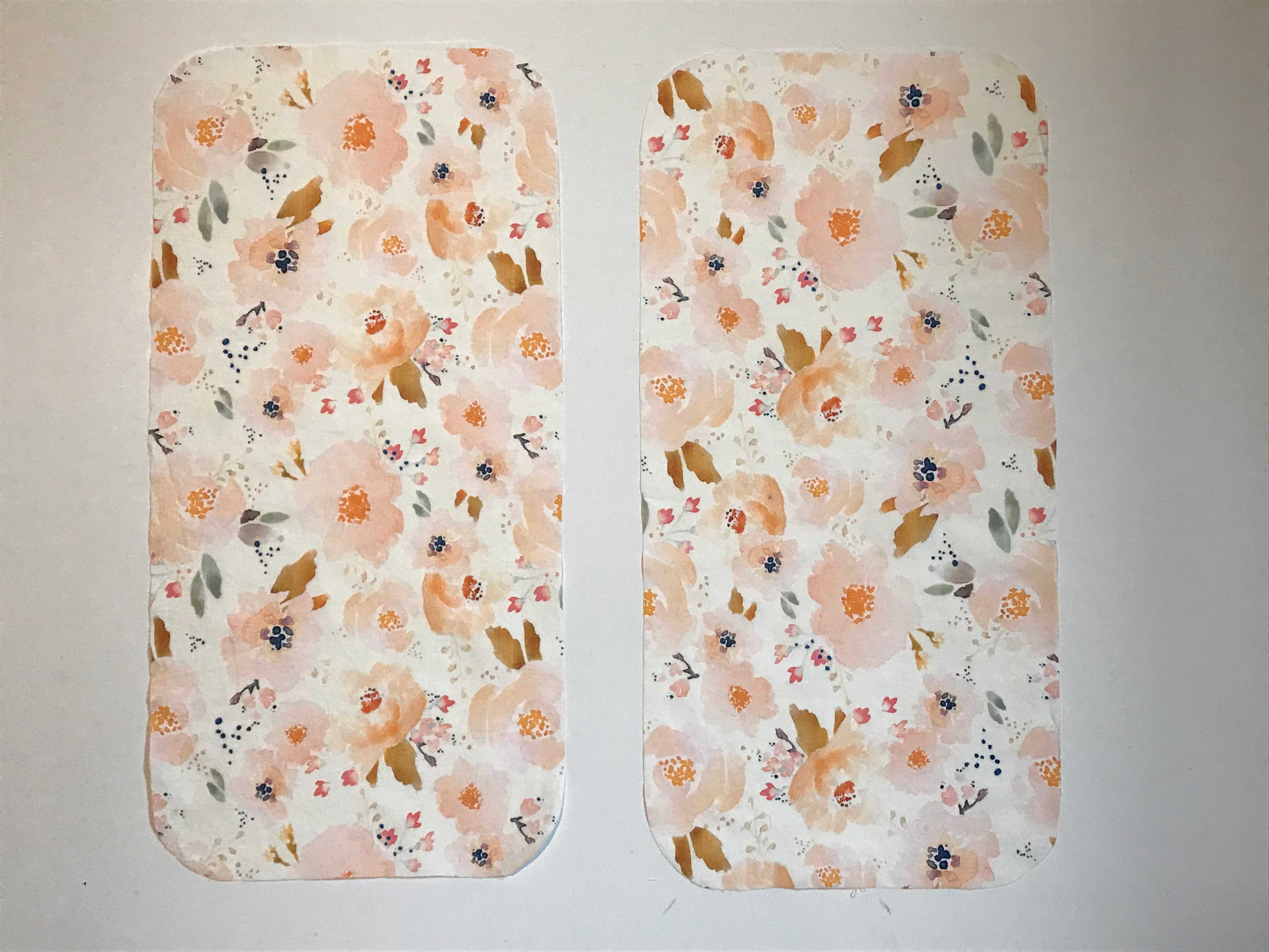 Floral Burp Cloths - Set of 2 - Dream Evergreen @DreamEvergreen