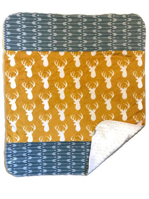 Deer/Arrow Double Minky Blankie - Dream Evergreen @DreamEvergreen