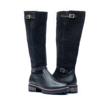 Women's brown leather boots Ava black