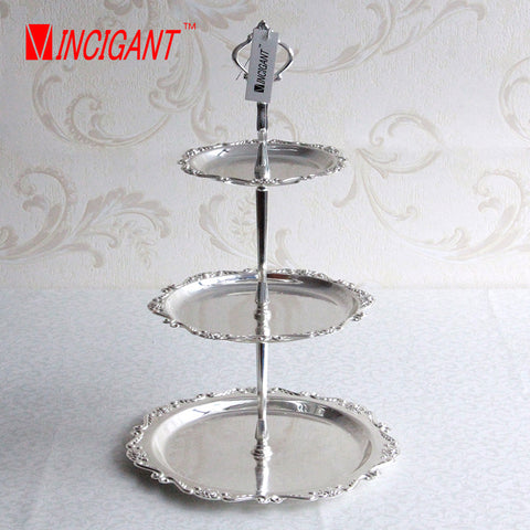 cake stand 3 Tier silver metal candy cupcake stand Fruits Desserts Plate Stands Wedding Decoration Party & cake stand 3 Tier silver metal candy cupcake stand Fruits Desserts ...