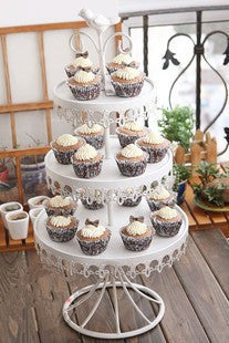 Hotsale 3 layer metal white cake pan stand cupcake holder wedding ...