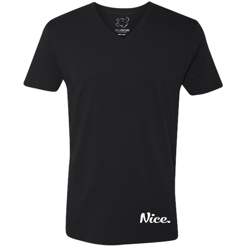 Signature Black & White Nice Posture V-Neck