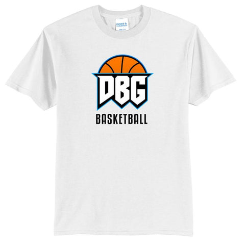 Official DBG Basketball Chest Logo and Text Shirt