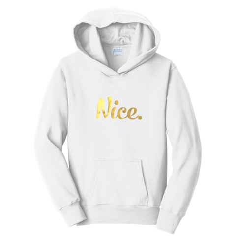 Official Nice Logo Gold Foil Nice Posture Hoodies