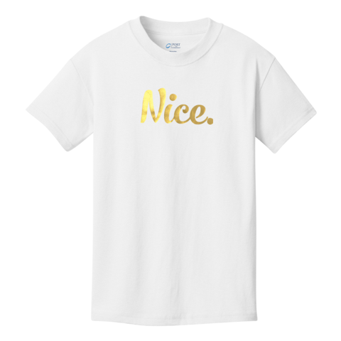 Official Nice Logo Gold Foil Nice Posture Shirts