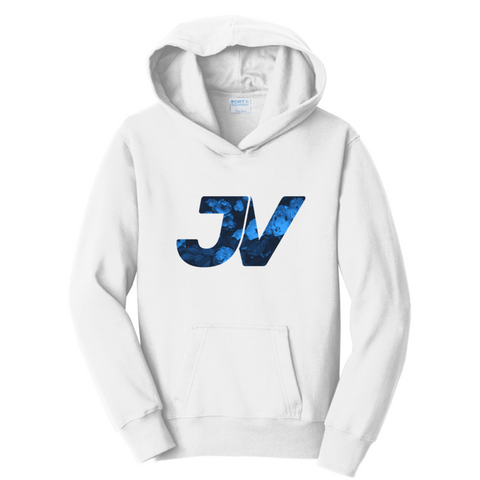 Official JustVurb JV Blue Logo Hoodie