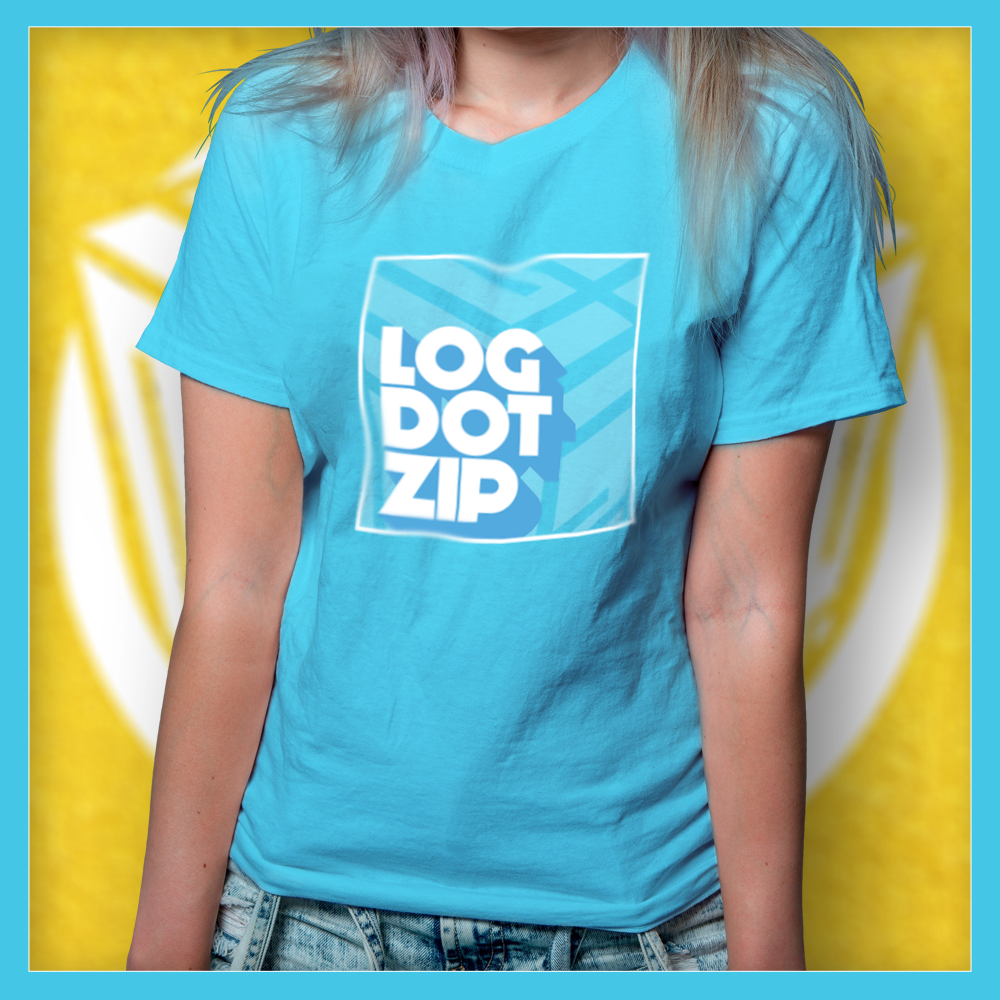 Official Logdotzip Rainbow Block Logo Shirts