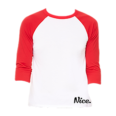 Signature Red & White Nice Posture Baseball Shirt