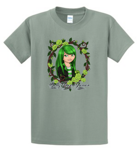 Official SallyGreenGamer Stonewash Green T-Shirt