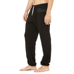 Signature Black Nice Posture Sweatpants
