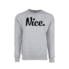 Signature Grey Nice Posture Sweatshirt