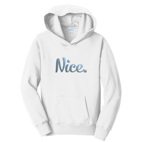 Official Nice Logo Silver Foil Nice Posture Hoodies