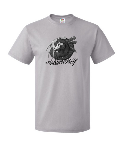 Original AshuriiWolf Light Grey SkullWolfie Shirt