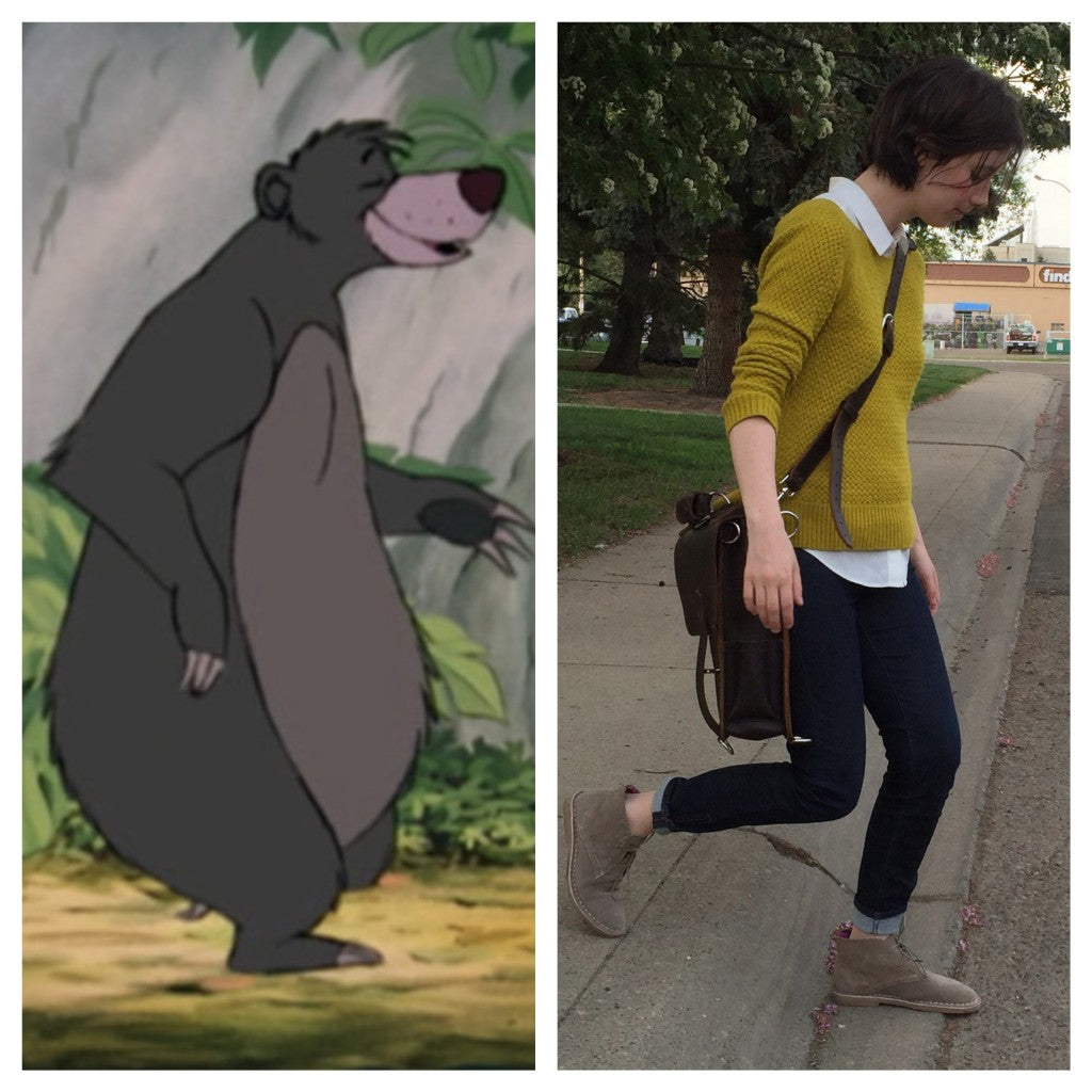 That time I resembled Baloo from jungle book instead of a model.
