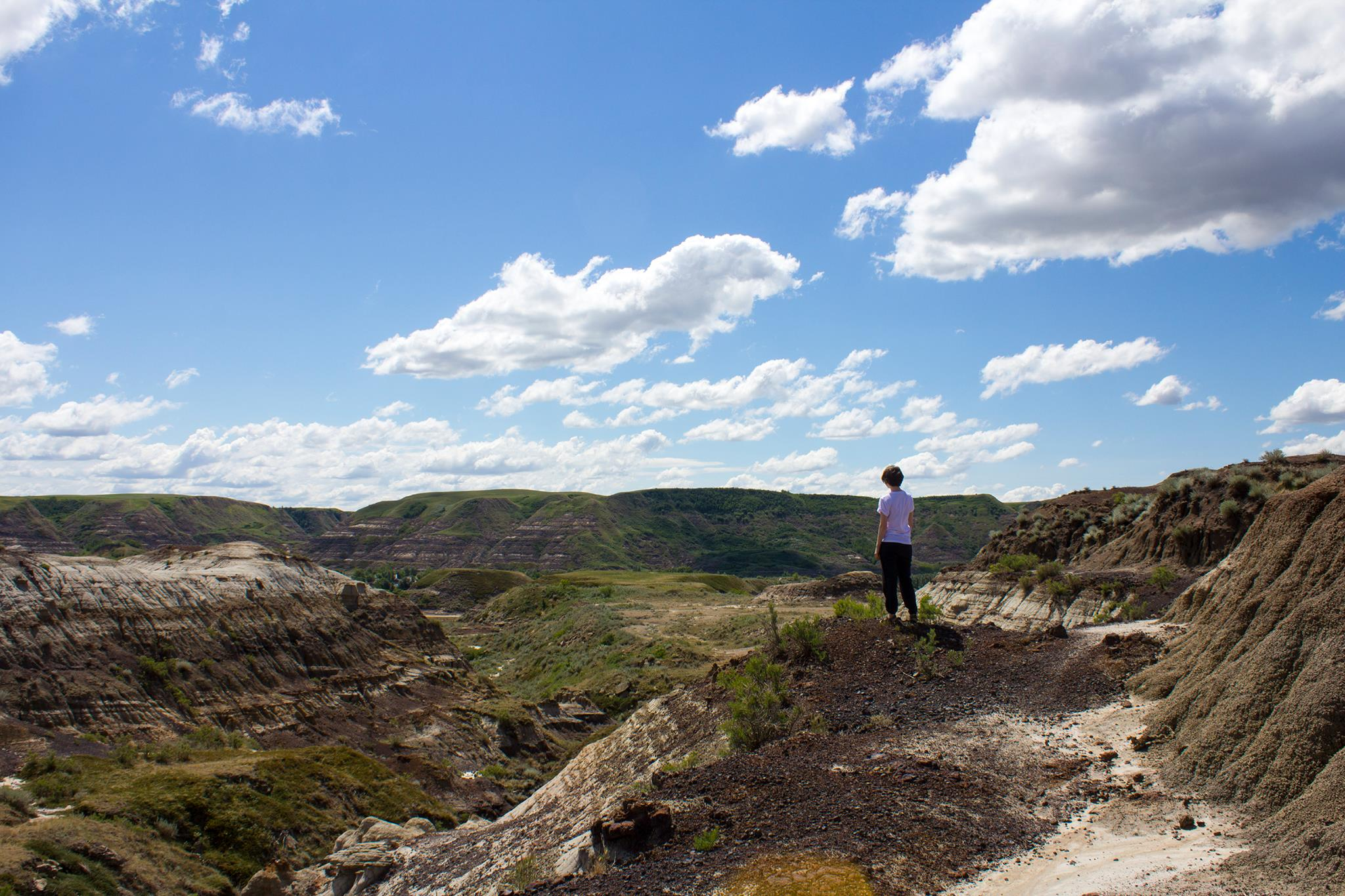 drumheller badlands // flannel foxes tomboy fashion blog