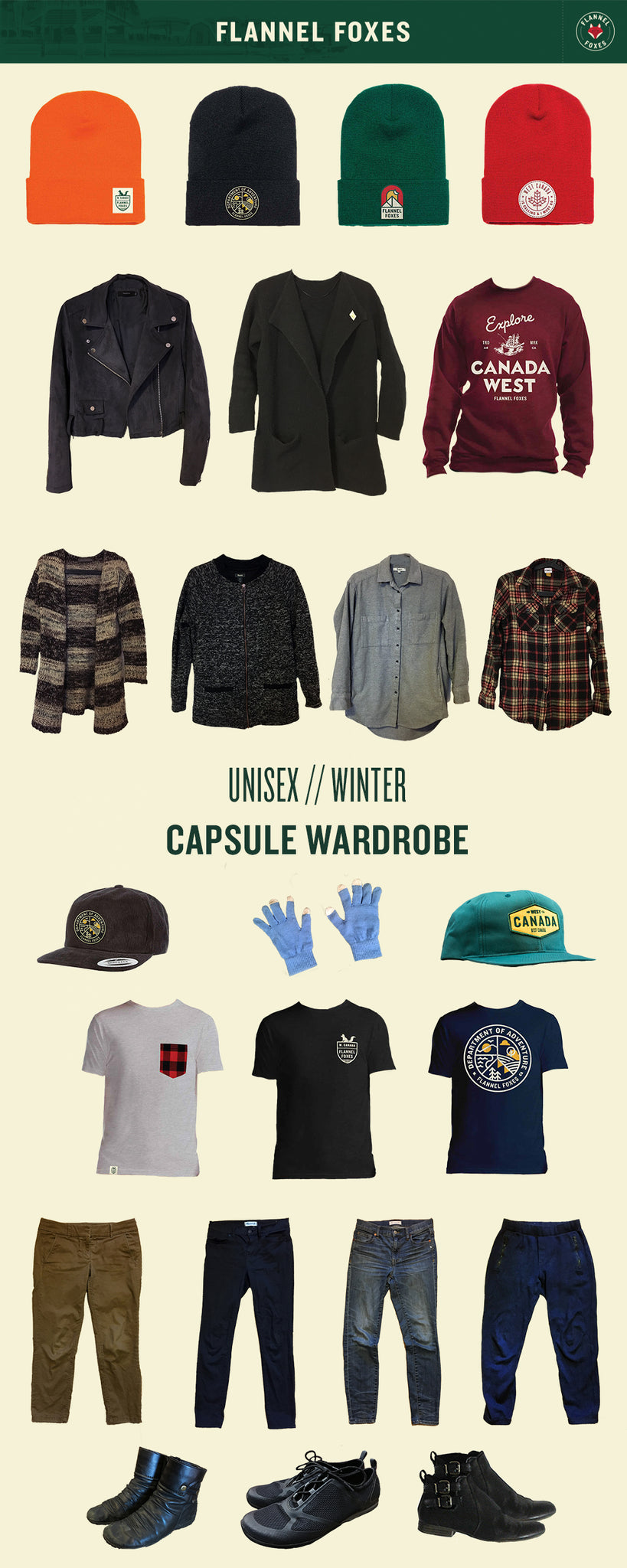 Unisex Winter Capsule Wardrobe