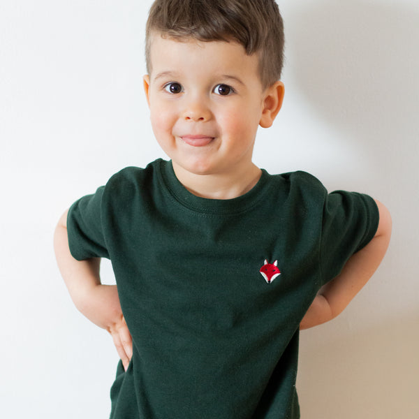 Embroidered Fox Tee - Kids