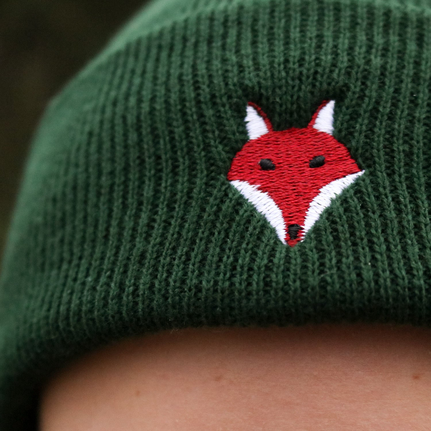 Embroidered Fox Toque