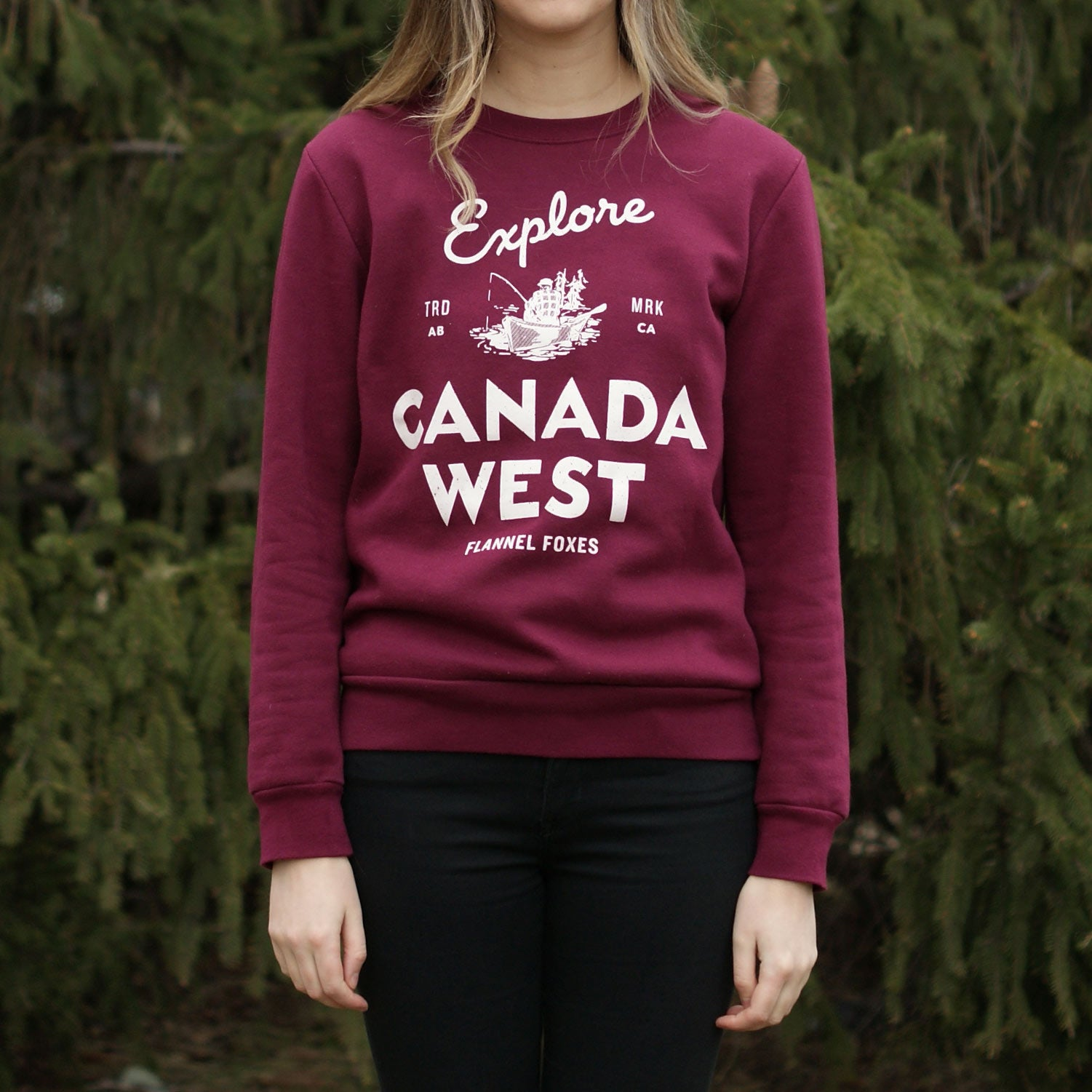 Explore Canada West Sweatshirt - Maroon