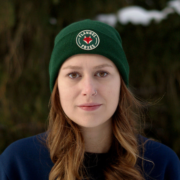 Fox Logo Toque - Forest Green