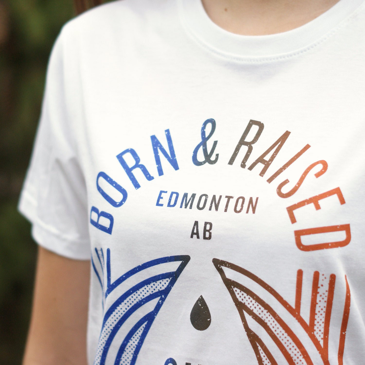 Flannel Foxes x OilersNation - Born & Raised Tee