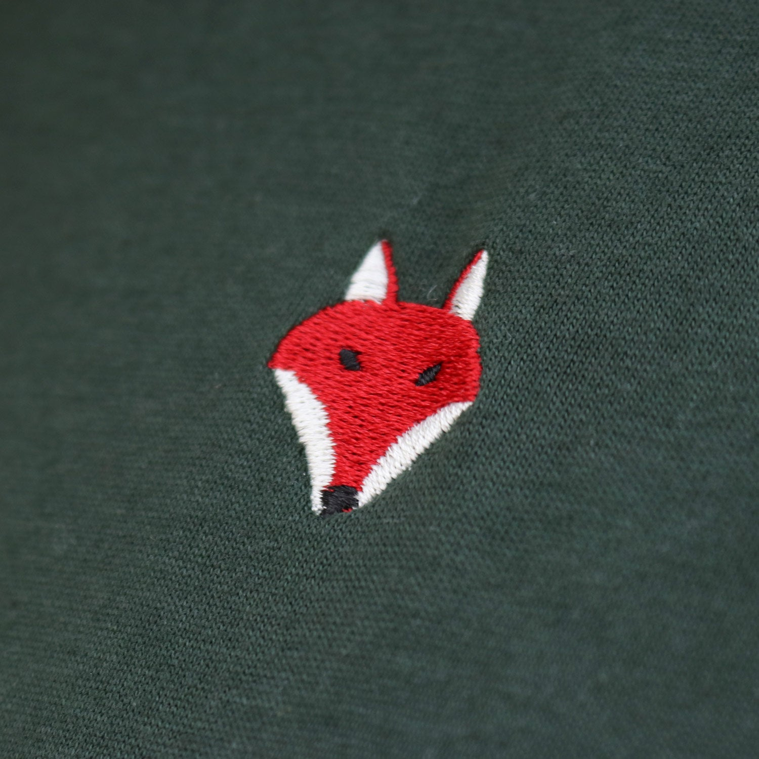 Embroidered Fox Tee